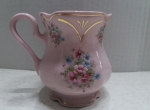 Mini milk jugs - Czech  pink porcelain