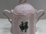 Sugar container - Czech pink porcelan