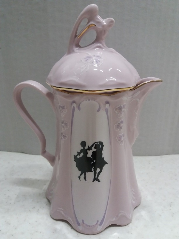 Coffee pot - Czech pink porcelain